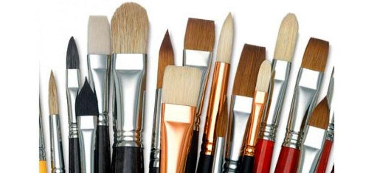 Широкий выбор кистей для живописи: белка, колонок, щетина, синтетика и другие